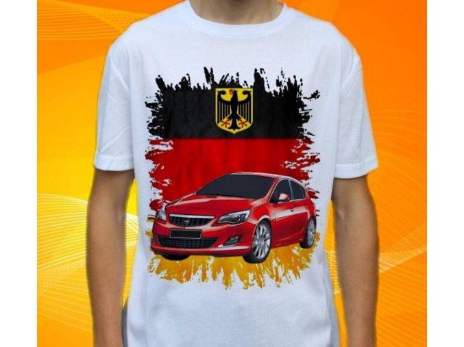Dětské a pánské tričko s autem Opel Astra 2010