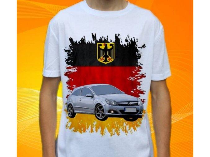 Dětské a pánské tričko s autem Opel Astra Coupe