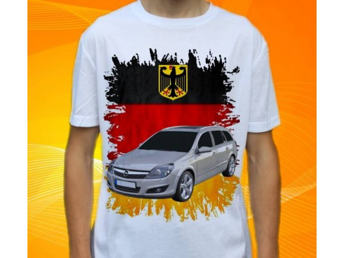 Dětské a pánské tričko s autem Opel Astra Combi