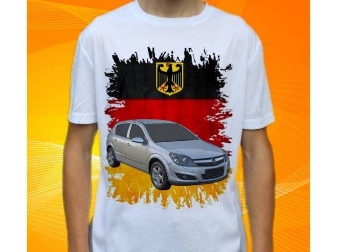 Dětské a pánské tričko s autem Opel Astra 2007