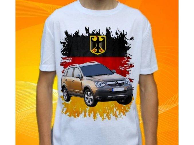 Dětské a pánské tričko s autem Opel Antara