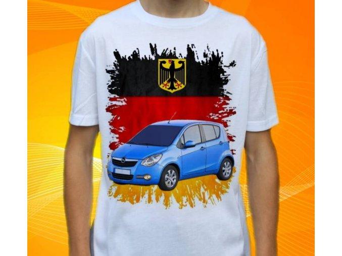 Dětské a pánské tričko s autem Opel Agila