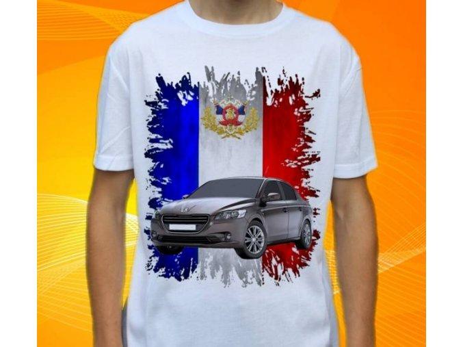 Dětské a pánské tričko s autem Peugeot 301