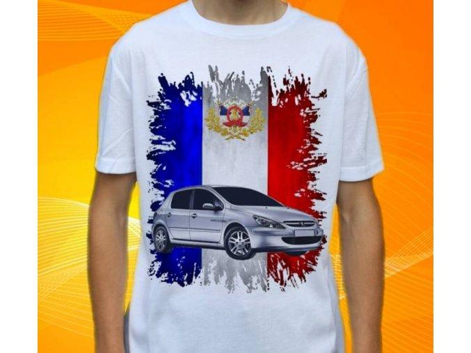 Dětské a pánské tričko s autem Peugeot 307
