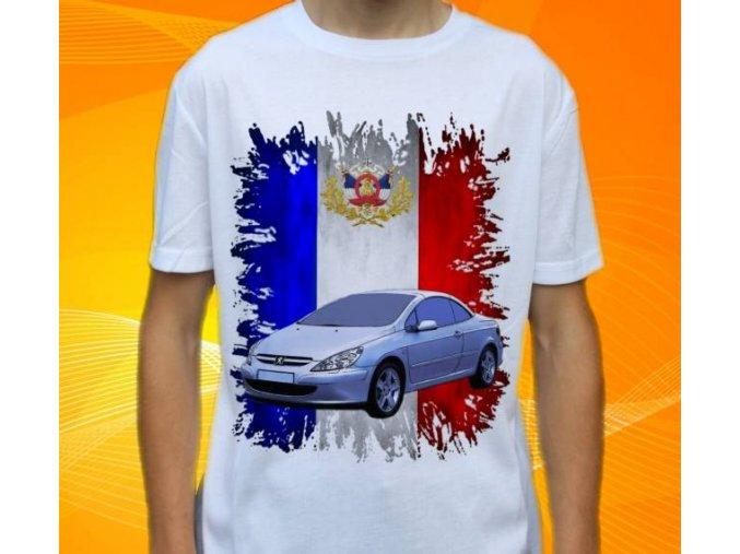 Dětské a pánské tričko s autem Peugeot 307 CC