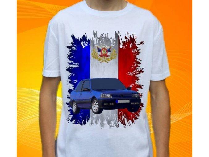 Dětské a pánské tričko s autem Peugeot 309
