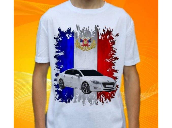 Dětské a pánské tričko s autem Peugeot 508