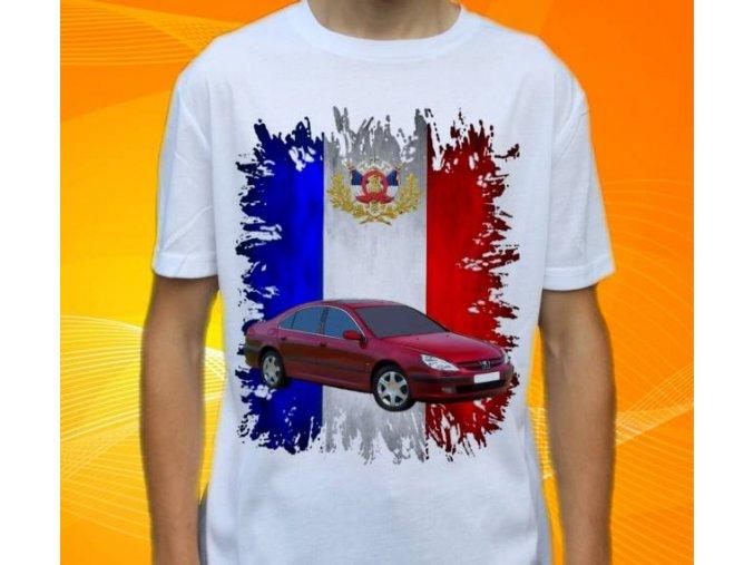Dětské a pánské tričko s autem Peugeot 607