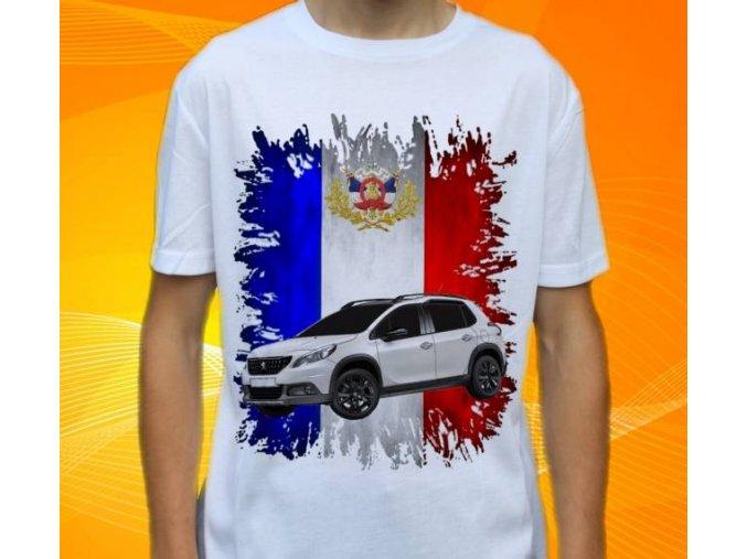 Dětské a pánské tričko s autem Peugeot 2008