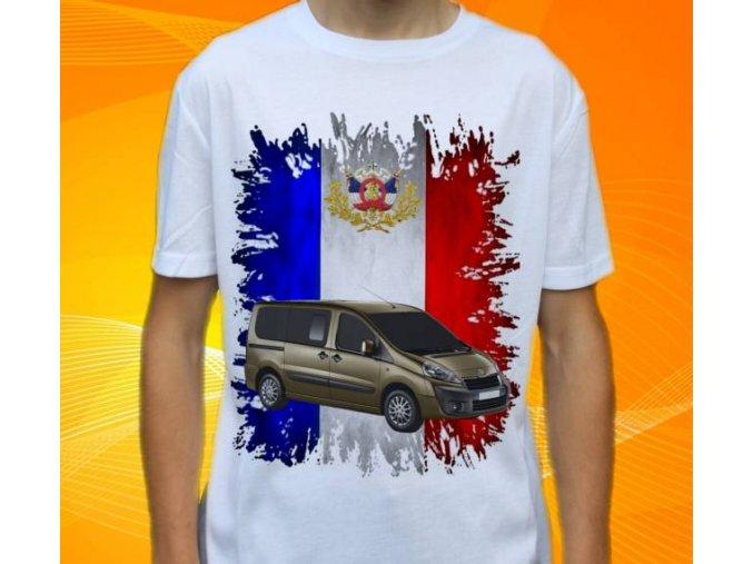 Dětské a pánské tričko s autem Peugeot Expert