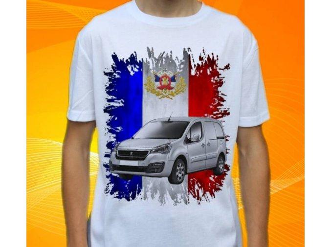 Dětské a pánské tričko s autem Peugeot Partner