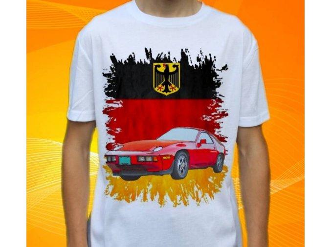 tričko s autem Porsche 928