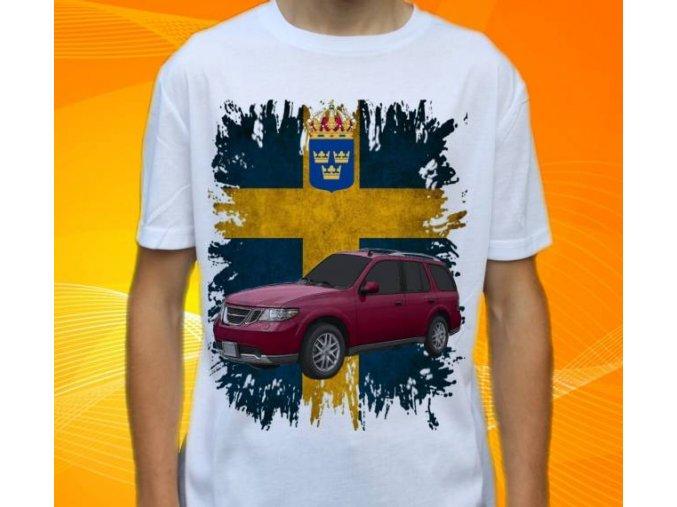 tričko s autem Saab 9-7
