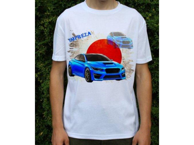 tričko s autem Subaru Impreza WRC