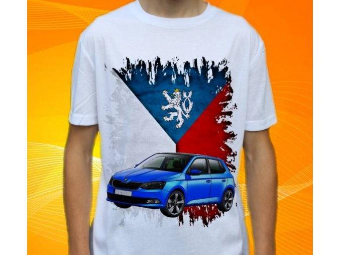 Dětské a pánské tričko s autem Škoda Fabia
