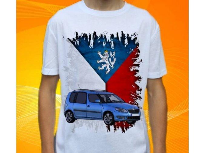 Dětské a pánské tričko s autem Škoda Roomster
