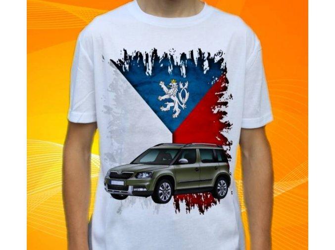 Dětské a pánské tričko s autem Škoda Yeti