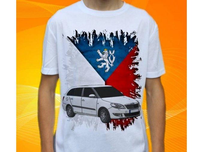 Dětské a pánské tričko s autem Škoda Fabia Combi