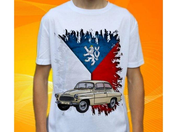 Dětské a pánské tričko s autem Škoda Octavia 1962