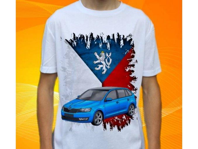 Dětské a pánské tričko s autem Škoda Rapid