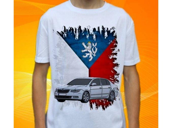 Dětské a pánské tričko s autem Škoda Superb