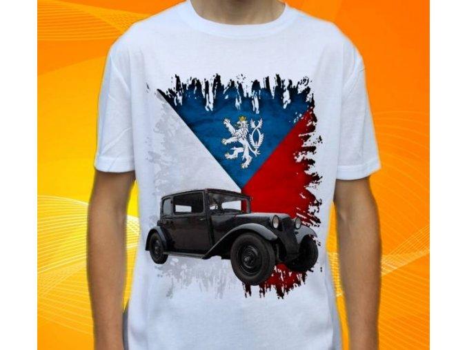Dětské a pánské tričko s autem Tatra T57 1935