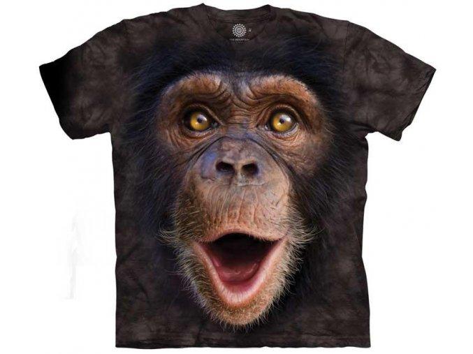 tričko, mládě šimpanze, 3d, potisk, dětské, mountain