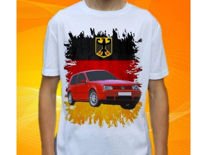 tričko s autem Volkswagen Golf MKIV 1998