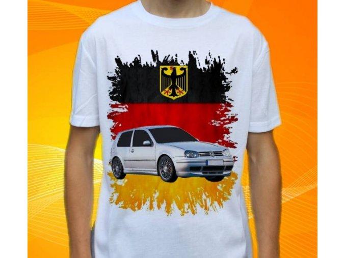 tričko s autem Volkswagen Golf MKIV
