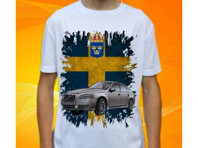 tričko s autem Volvo S80