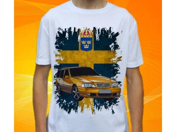 tričko s autem Volvo V70