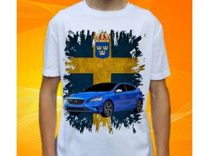tričko s autem Volvo V40