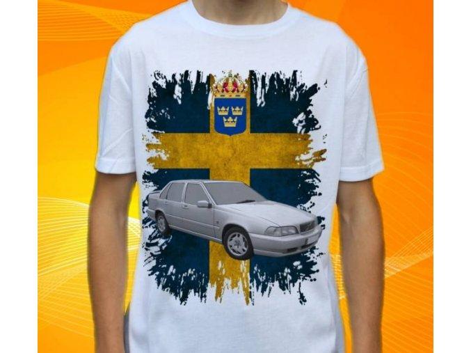 tričko s autem Volvo S70