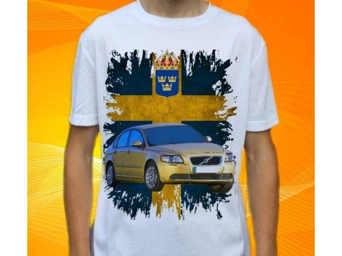 tričko s autem Volvo S40