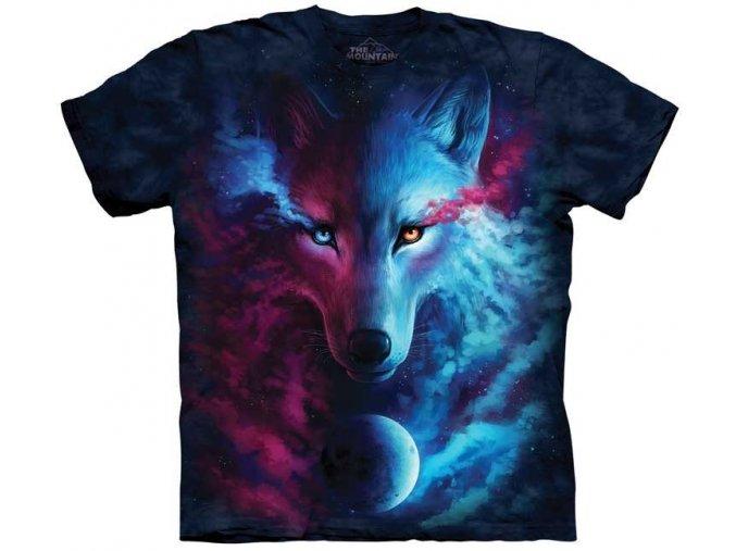 tričko, dětské, zodiak, vlk, mountain, potisk