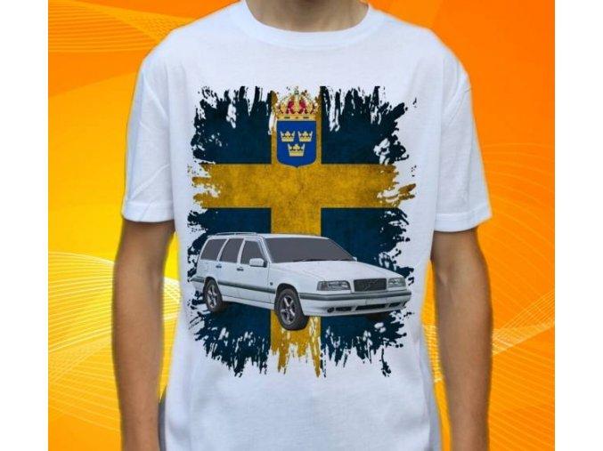 tričko s autem Volvo 850