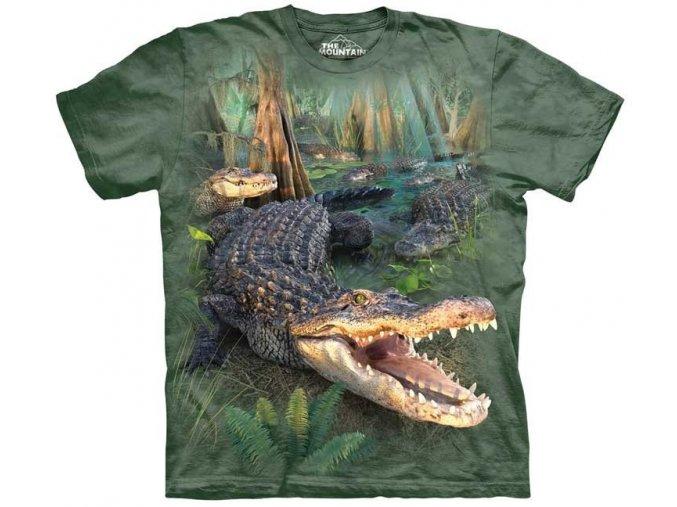 tričko, krokodýl, dětské, řada, mountain, potisk