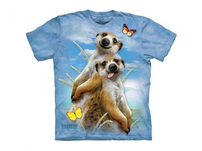 dětské tričko-vtipné-selfie surikat-potisk-mountain
