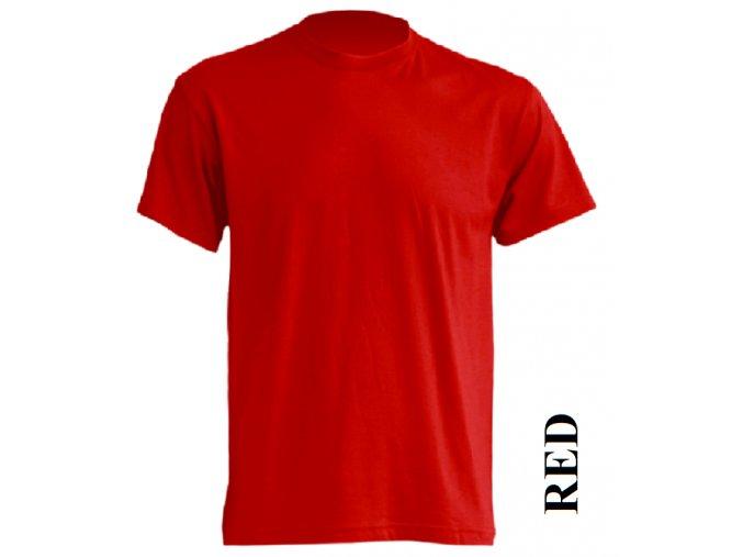 dětské, tričko, jednobarevné, bavlněné, červené