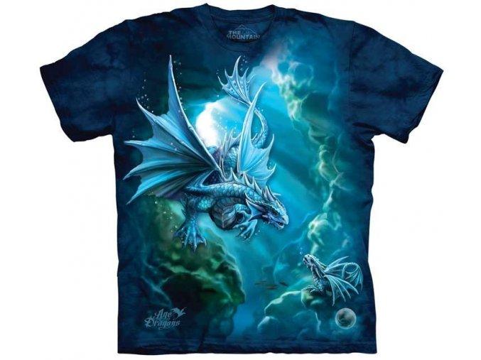 dětské tričko-moře-drak-potisk-mountain-modré