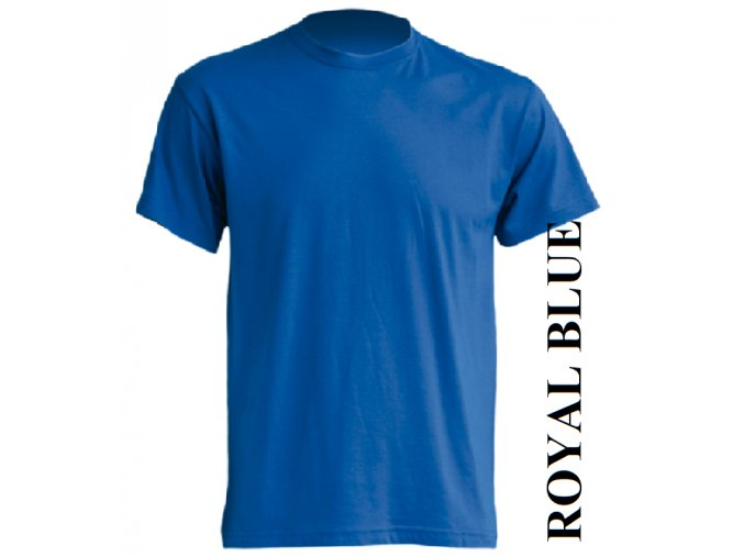 dětské, tričko, jednobarevné, bavlněné, modré