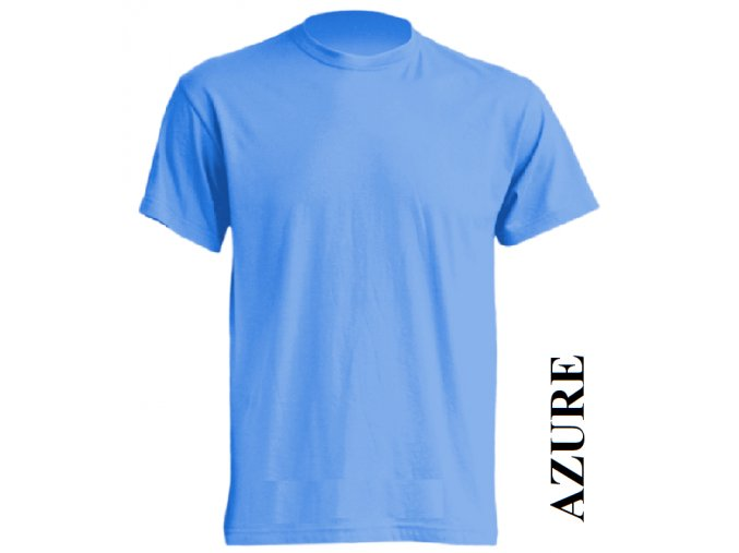 dětské, tričko, jednobarevné, bavlněné, azurově modré
