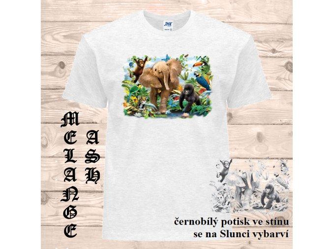 menici tricko slon zviratka sede detske tricko