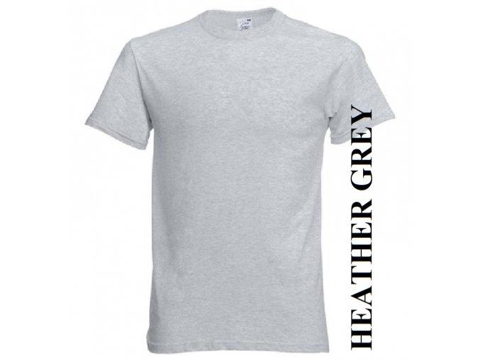 pánské, tričko, jednobarevné, bavlněné, vřesově šedé