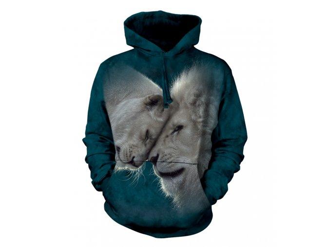 mikina, the Mountain, batikovaná, kapuce, bílý lev