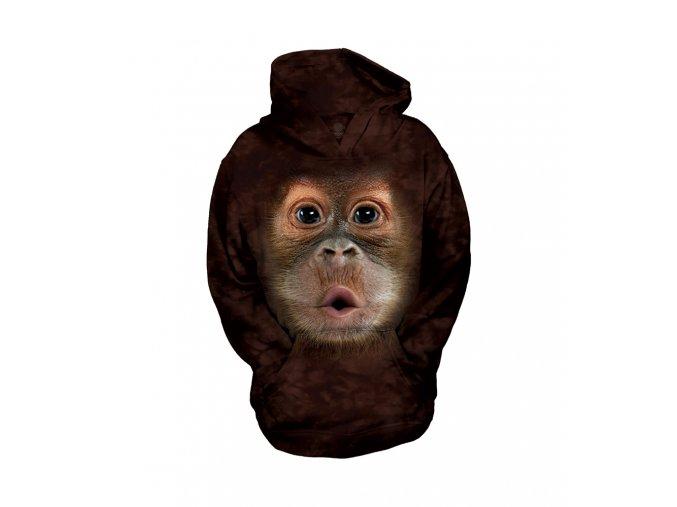 dětská mikina, the Mountain, potisk, opice, batikovaná, 3D