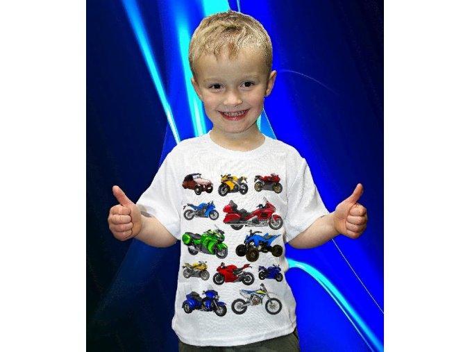 tričko, dětské, pánské, potisk, motorky