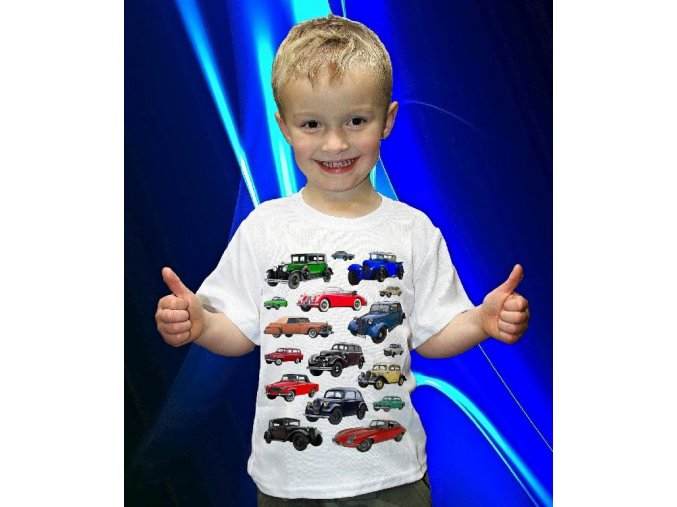 tričko, dětské, pánské, potisk, auta, veteráni