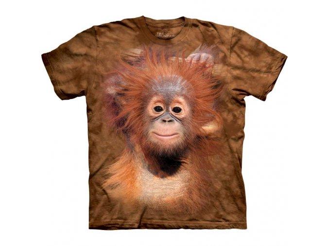 dětské tričko-opička-orangutánek-potisk-mountain