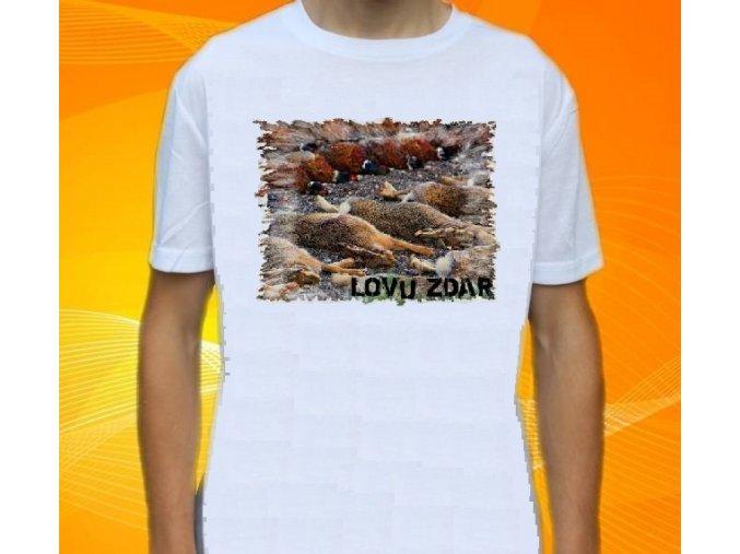tričko, dětské, pánské, potisk, myslivec, lovecké úlovky